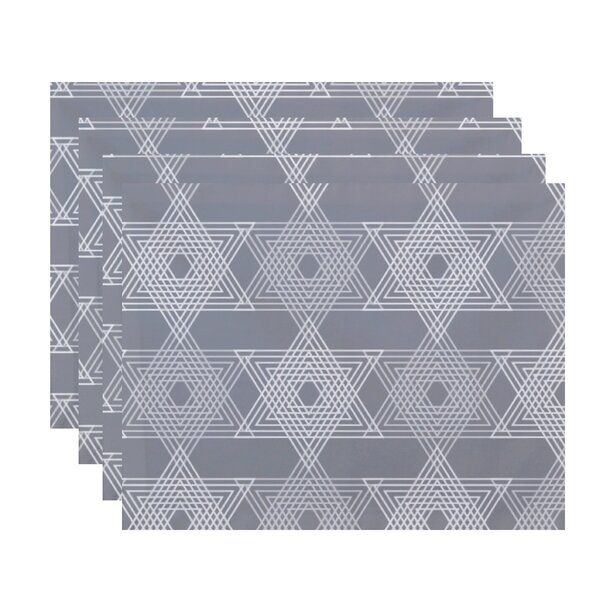 Star Light Geometric Print Placemat (Set of 4) by The Holiday Aisle