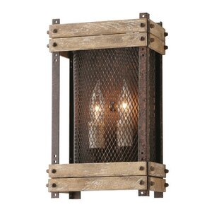 Best Price Gloska 2-Light Outdoor Flush Mount By Union Rustic