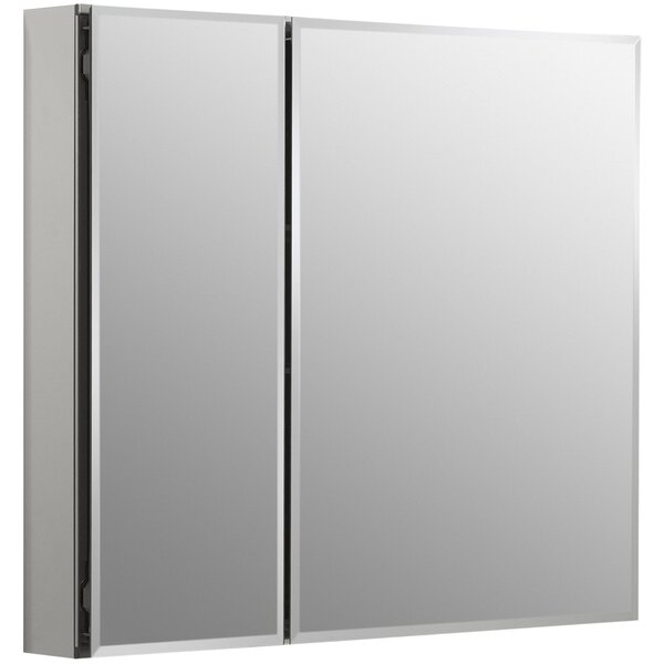 30 x 26 Aluminum Two-Door Medicine Cabinet with Mirrored Doors, Beveled Edges by Kohler