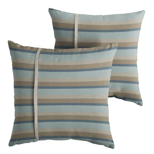 Chauvin Indoor/Outdoor Throw Pillow (Set of 2) by Rosecliff Heights