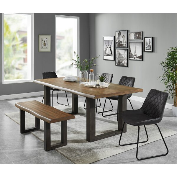 Roopville Live Edge Look 6 Piece Dining Set by Foundry Select