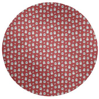 East Urban Home Newburyport Polka Dots Wool Red Area Rug Wayfair