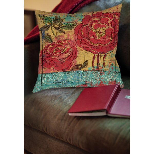 Valencia 3 Printed Throw Pillow by Manual Woodworkers & Weavers