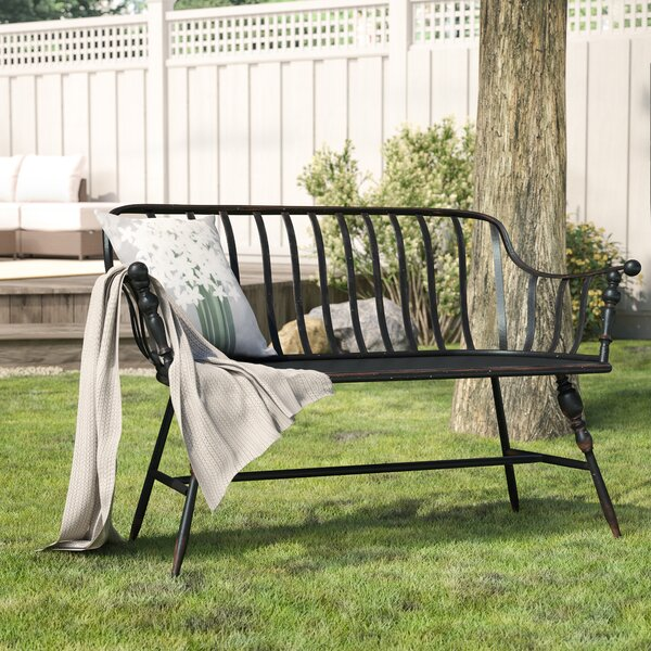 Marchant Metal Garden Bench by Laurel Foundry Modern Farmhouse Laurel Foundry Modern Farmhouse