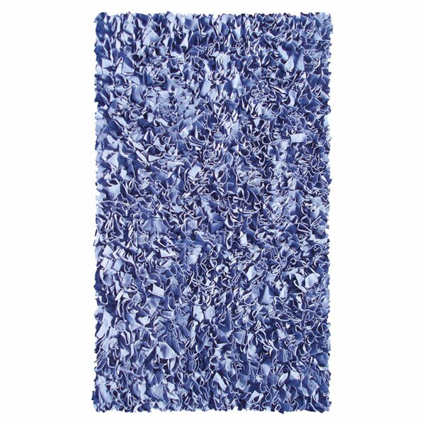 Hand-Woven Dark Blue Area Rug by The Conestoga Trading Co.