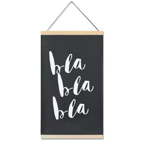 Delia Bla Bla Wall Hanging by Harriet Bee