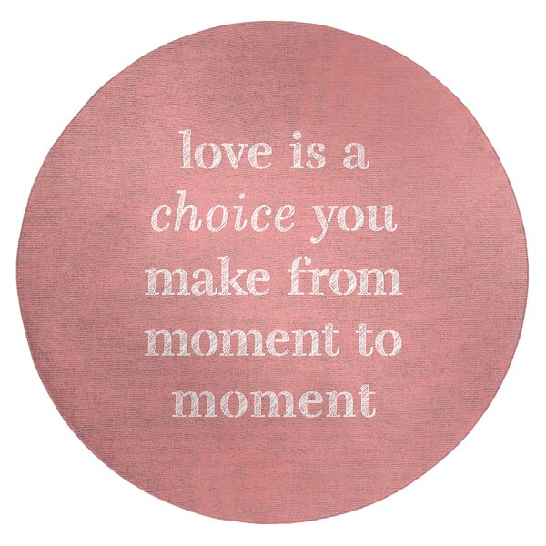 Handwritten Love Is A Choice Quote Poly Chenille Rug
