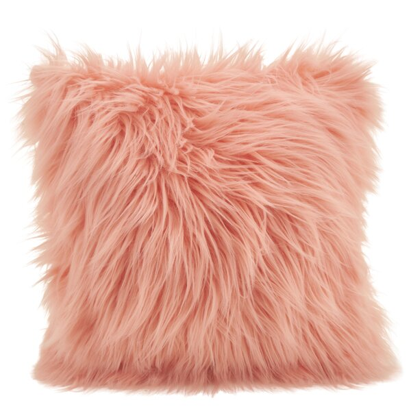 Hudspeth Faux Fur Long Hair Throw Pillow by Mercer41