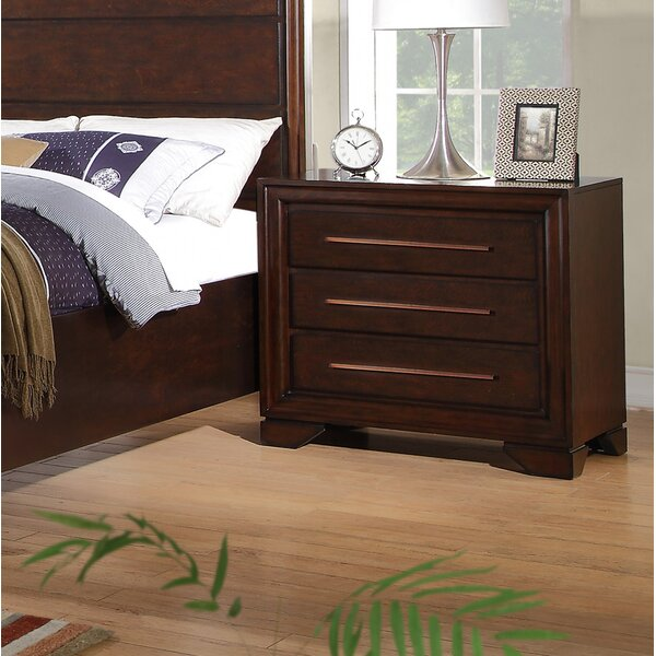 Kostya 3 Drawer Nightstand by Charlton Home