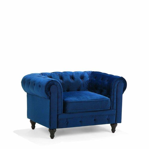 Cammack Velvet Chesterfield Chair by House of Hampton