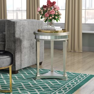 Great Price Roehl Mirrored End Table in Antique Silver By Willa Arlo Interiors