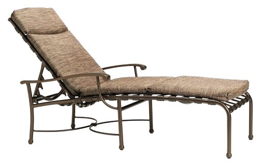 Sorrento Reclining Chaise Lounge with Cushion by Tropitone