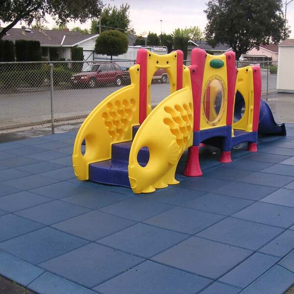 Eco-Safety Interlocking Playground Tile (Set of 80) by Rubber-Cal, Inc.