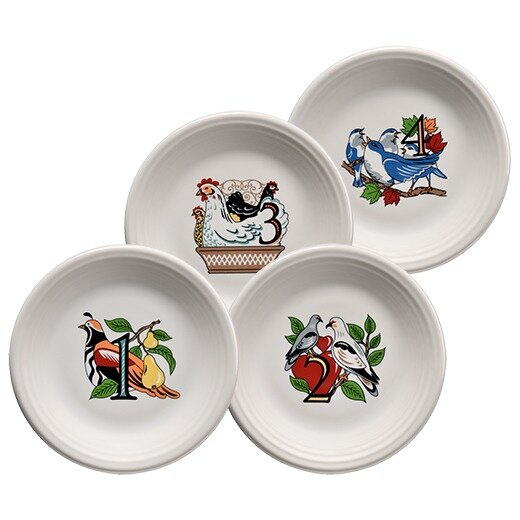 Twelve Days of Christmas Salad Platter (Set of 4)