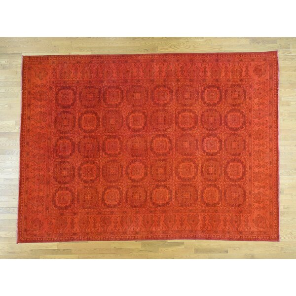 One-of-a-Kind Beauchemin Overdyed Design Handwoven Wool Area Rug by Isabelline