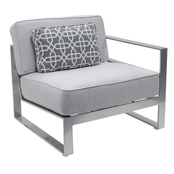 Horizons Left Arm Patio Chair with Cushion by Leona