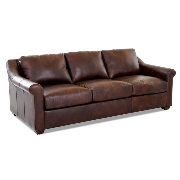 Potrero Leather Sofa by Charlton Home