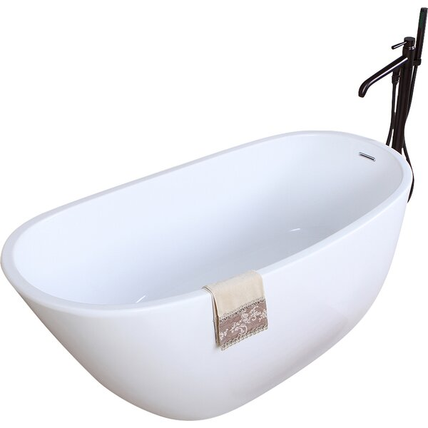 Aqua Eden 59 x 28.6 Soaking Bathtub by Kingston Brass