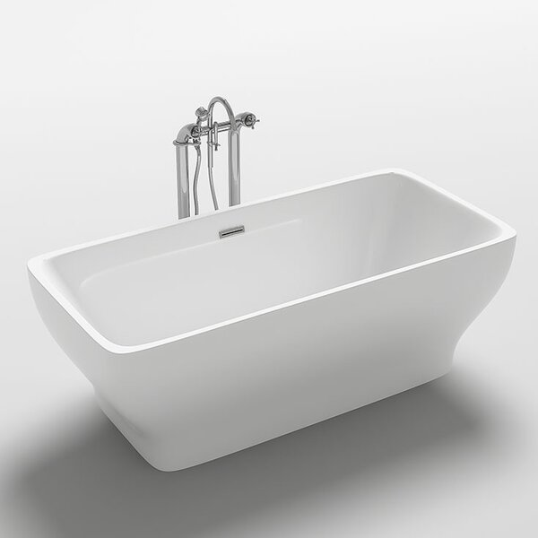 Como 67 x 31.5 Freestanding Soaking Bathtub by Kokss