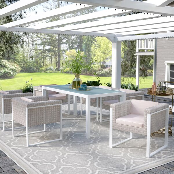 Dragan 7 Piece Dining Set with Cushions by Willa Arlo Interiors