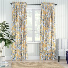 Floral Rod Pocket Curtains Drapes You Ll Love In 2021 Wayfair