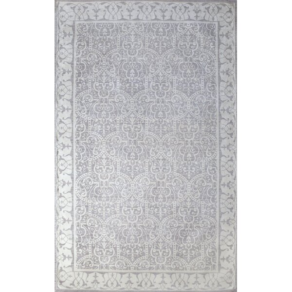 Como Hand-Woven Ivory/Dusty Gray Indoor Area Rug by Tuft & Loom