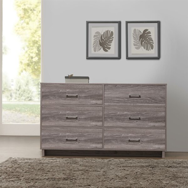 Chicopee Modern 6 Drawer Double Dresser by Zipcode