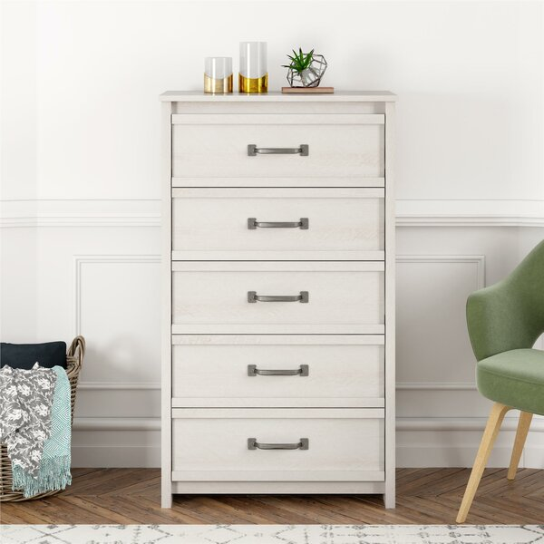 Millom 5 Drawer Chest by Three Posts