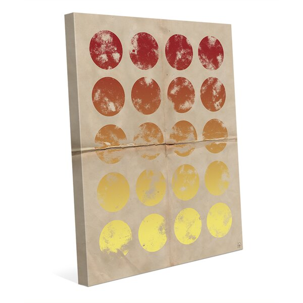 Polka Graphic Art on Wrapped Canvas in Red and Yellow by Click Wall Art