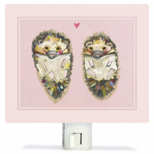 Hedgehog Love by Eli Halpin Canvas Night Light by Oopsy Daisy