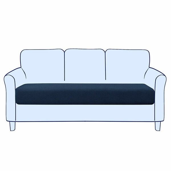 Stretch Jacquard Box Cushion Loveseat Slipcover By Winston Porter