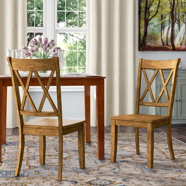 Back Bay Solid Wood Dining Chair (Set Of 2) By Three Posts Three Posts