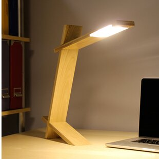 Bargain Quitman Plank 17.25 Desk Lamp by Wade Logan