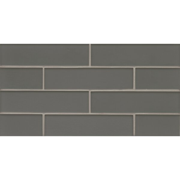 Remy Glass Mosaic Mesh Mount Tile in Metal by Grayson Martin