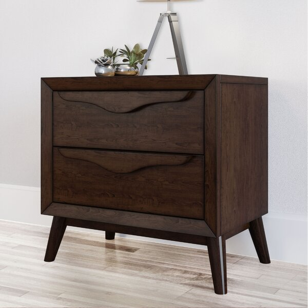Lapierre 2 Drawer Nightstand by George Oliver
