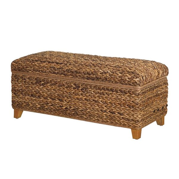 Corley Wood Storage Bench by Rosecliff Heights