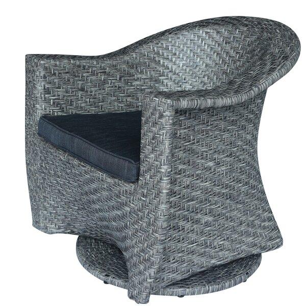 Hurst Swivel Barrel Chair by Wrought Studio