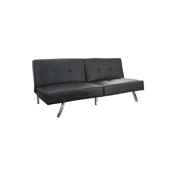 Reily Leatherette Convertible Sofa by Wade Logan