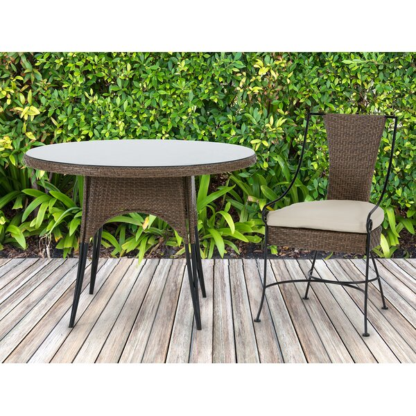 Arleigh Patio Dining Chair with Cushion (Set of 2) by Bayou Breeze