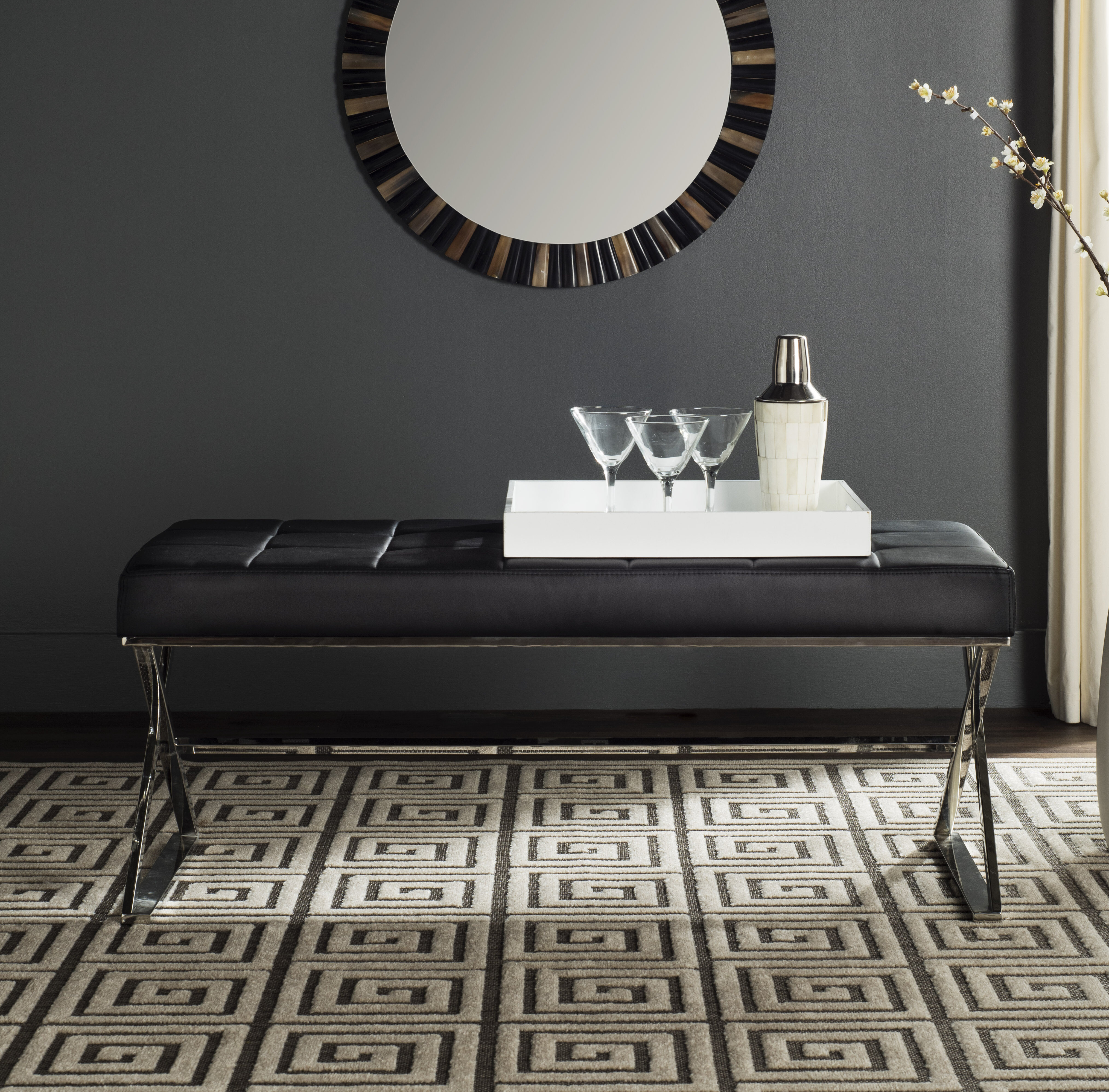 Cochran Leather Upholstered Bench