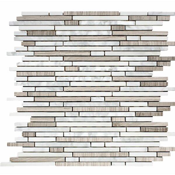 Corona Random Strips Random Sized Stone Mosaic Tile by Parvatile