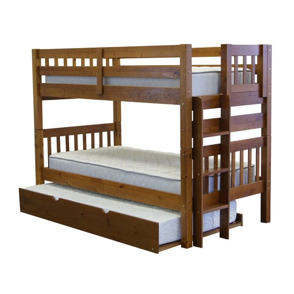 Treva Twin over Twin Bunk Bed with Trundle by Harriet Bee
