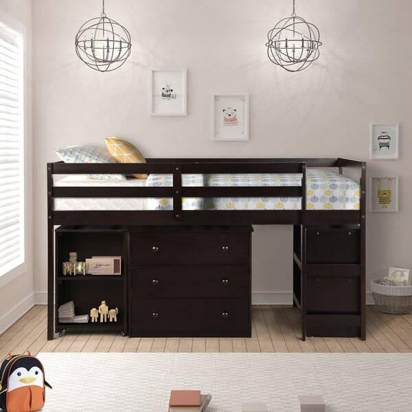 Alkire Twin Low Loft Bed With Bookcase And Drawers By Harriet Bee by Harriet Bee Wonderful