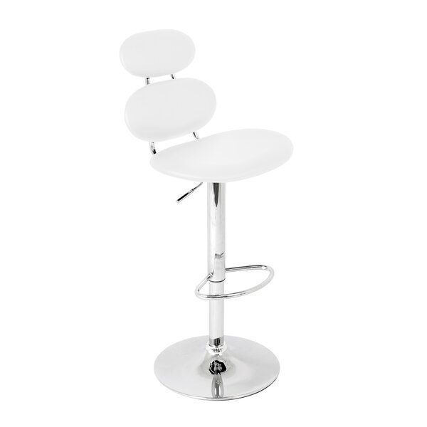 Leigh Woods Adjustable Height Swivel Bar Stool by Wade Logan