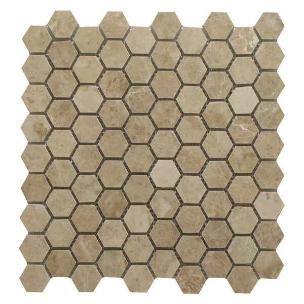 Cappuccino Honeycomb 1.25 x 1.25 Marble Mosaic Tile in Beige by Seven Seas