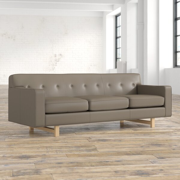 Hot Sale Lomonaco Leather Sofa by Mercury Row by Mercury Row