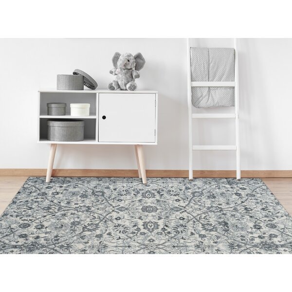 Honig Transitional Light Blue Area Rug by Charlton Home