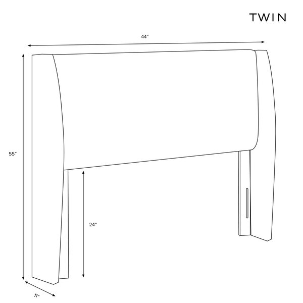 Staudt Upholstered Wingback Headboard By Latitude Run
