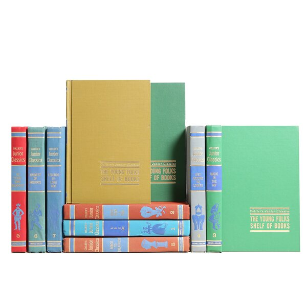 Authentic Decorative Books - Custom Set Junior Classics Midcentury Library, Set of 10 by Booth & Williams