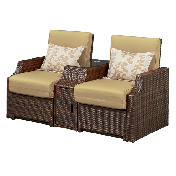Burton Double Reclining Chair with Cushions (Set of 2) by Bay Isle Home